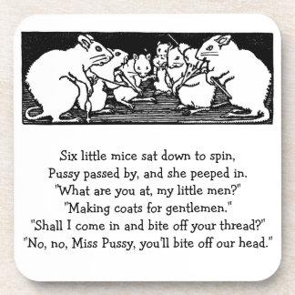 Spinning Mice Nursery Rhyme Beverage Coaster
