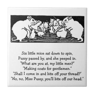 Spinning Mice Nursery Rhyme Tile