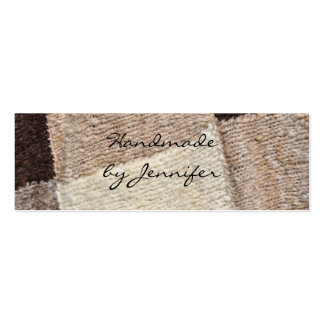 Spinning or knitting business card