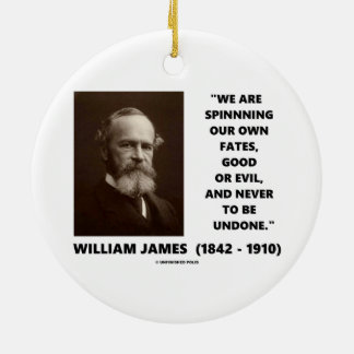Spinning Our Own Fates Good Or Evil James Quote Ceramic Ornament