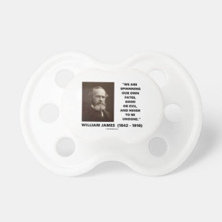 Spinning Our Own Fates Good Or Evil James Quote Pacifier