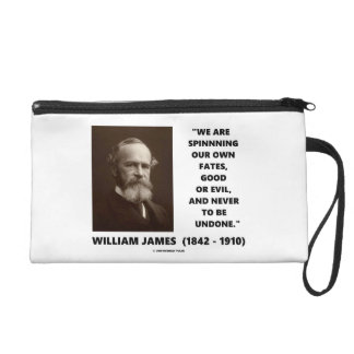 Spinning Our Own Fates Good Or Evil James Quote Wristlet
