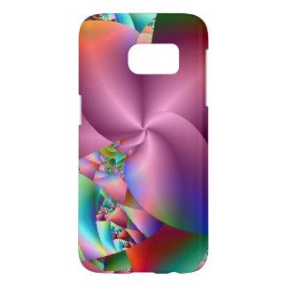 Spinning Pink Pinwheel Abstract Samsung Galaxy S7 Case