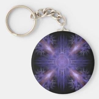 Spinning Pinwheel Fireworks Fractal Art Design Keychain