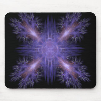 Spinning Pinwheel Fireworks Fractal Art Design Mouse Pad
