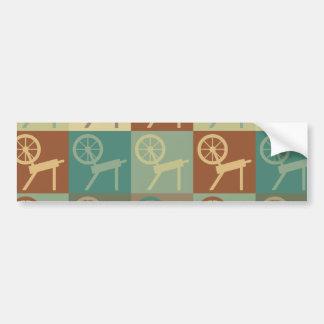 Spinning Pop Art Bumper Sticker