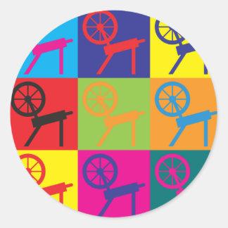 Spinning Pop Art Classic Round Sticker