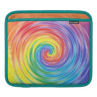 Spinning Rainbow iPad Sleeve