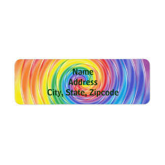 Spinning Rainbow Labels