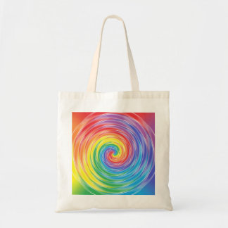 Spinning Rainbow Tote Bag