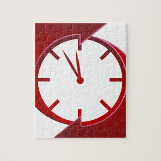 Spinning Red Clock Icon Puzzle