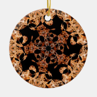 Spinning Spike Ball Star Jan 2013 Double-Sided Ceramic Round Christmas Ornament