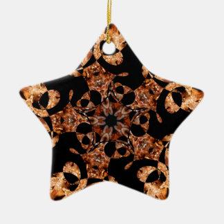 Spinning Spike Ball Star Jan 2013 Double-Sided Star Ceramic Christmas Ornament