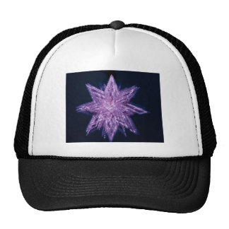 spinning_star_purple SPINNING PURPLE GLITTER SPARK Trucker Hat
