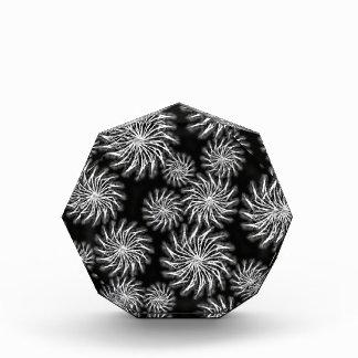 Spinning stars energetic pattern black acrylic award