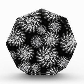 Spinning stars energetic pattern black award