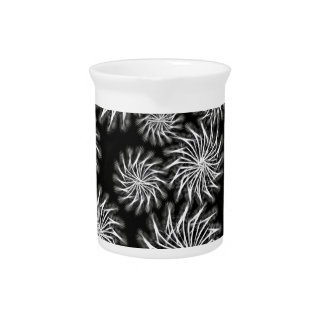 Spinning stars energetic pattern black drink pitcher