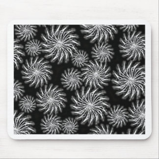 Spinning stars energetic pattern black mouse pad