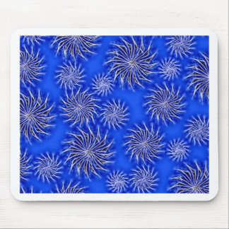 Spinning stars energetic pattern dark blue mouse pad