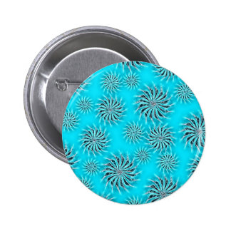 Spinning stars energetic pattern light blue button