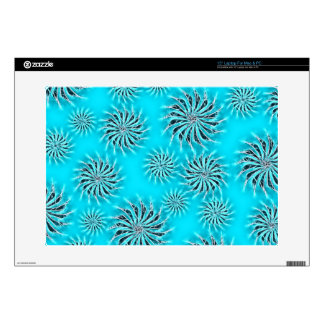 Spinning stars energetic pattern light blue decal for laptop