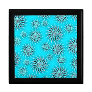 Spinning stars energetic pattern light blue gift box