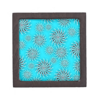 Spinning stars energetic pattern light blue jewelry box