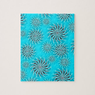 Spinning stars energetic pattern light blue puzzle