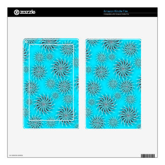 Spinning stars energetic pattern light blue skin for kindle fire
