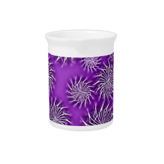 Spinning stars energetic pattern purple drink pitcher