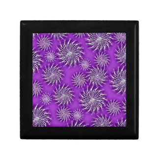 Spinning stars energetic pattern purple gift box