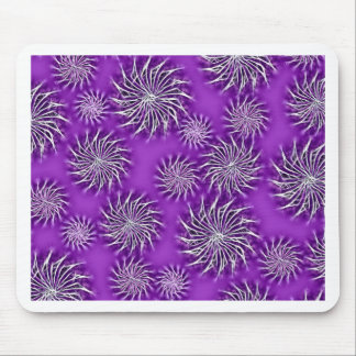 Spinning stars energetic pattern purple mouse pad