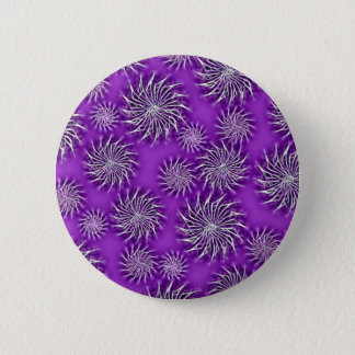 Spinning stars energetic pattern purple pinback button