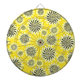 Spinning stars energetic pattern yellow dart boards