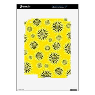Spinning stars energetic pattern yellow iPad 2 skins