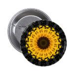 Spinning Sunflower Pinback Button