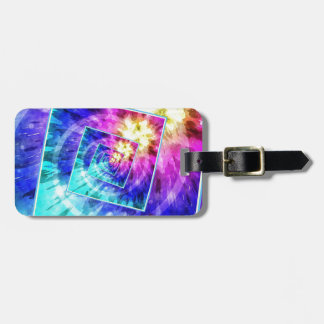 Spinning Tie Dye Abstract Bag Tag
