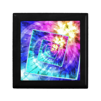 Spinning Tie Dye Abstract Gift Box