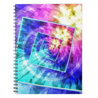 Spinning Tie Dye Abstract Notebook