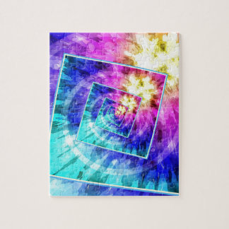 Spinning Tie Dye Abstract Puzzle