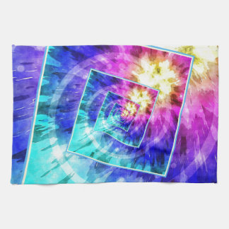 Spinning Tie Dye Abstract Towel