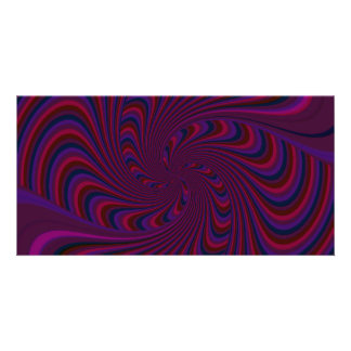 Spinning Top in Dark Colors Abstract Card