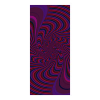 Spinning Top in Dark Colors Abstract Rack Card