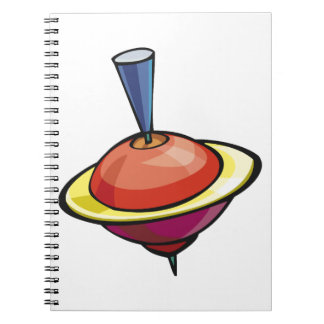 Spinning Top Spiral Notebook