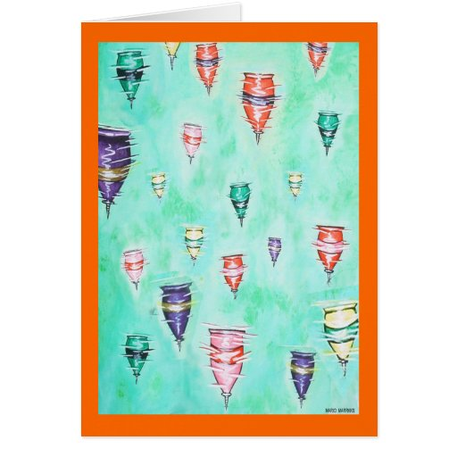 Spinning Tops - Greeting Card