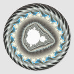 Spinning wheel - Fractal Classic Round Sticker