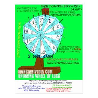 spinning wheel LUCK, Mungindi trading cardssuit... Postcard