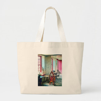 Spinning Wheel Near Window Large Tote Bag