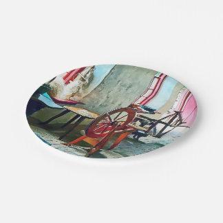Spinning Wheel Near Window Paper Plate
