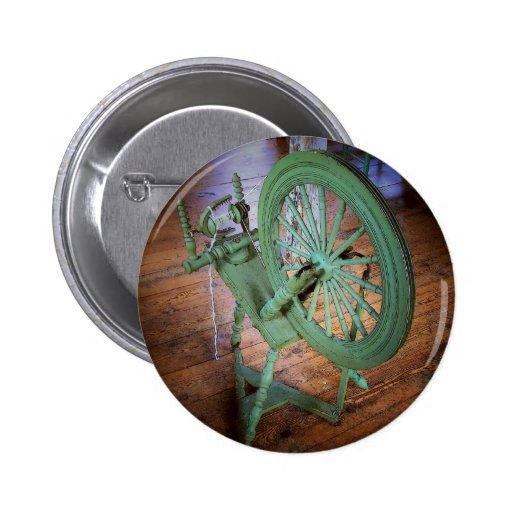 Spinning Wheel Pinback Buttons